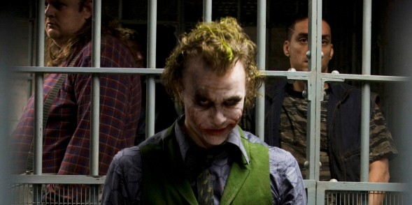 This undated publicity photo provided by Warner Bros. shows Heath Ledger in costume as The Joker in the upcoming Warner Bros. and Legendary Pictures action drama
